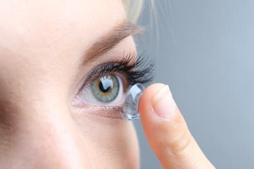 Bild på kontaktlins för närsynthet